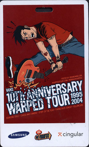 Warped Tour 10th Anniversary 2004 Laminate