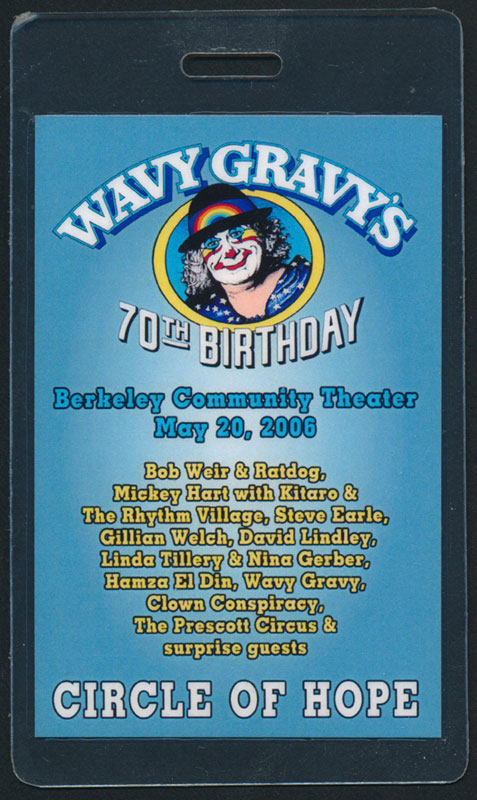 Wavy Gravy's 70th Birthday Circle of Hope Laminate