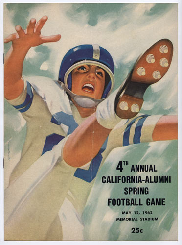1962 Caifornia Alumni Spring Game Cal College Football Program