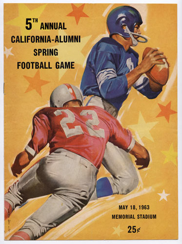 1963 Caifornia Alumni Spring Game Cal College Football Program