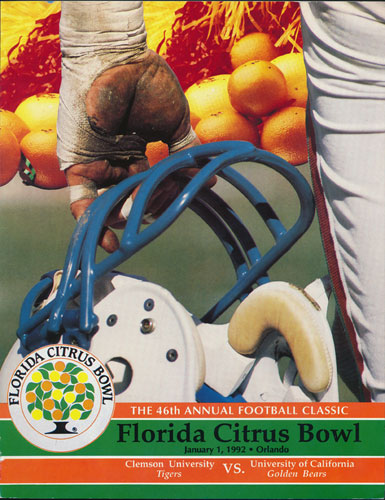 1992 Florida Citrus Bowl College Football Program