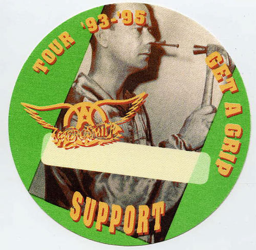 Aerosmith 1993 - 1995 Get A Grip Support Backstage  Pass