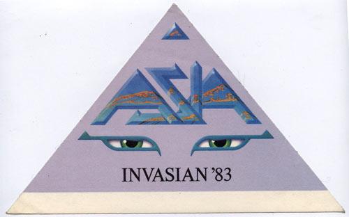 Asia 1983 Invasian Purple Backstage  Pass