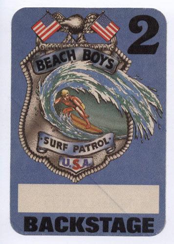 Beach Boys Surf Patrol Blue Backstage Backstage  Pass