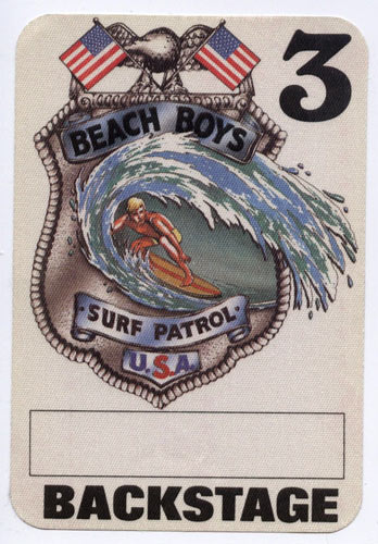 Beach Boys Surf Patrol White Backstage Backstage  Pass