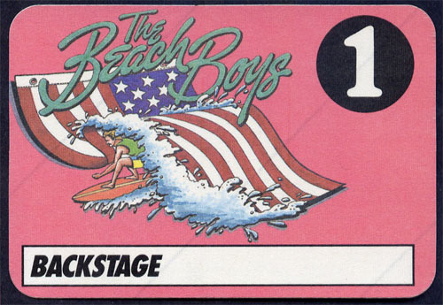 Beach Boys Backstage Pass Backstage  Pass