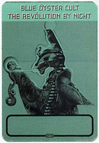 Blue Oyster Cult Revolution By Night Green Backstage Backstage  Pass