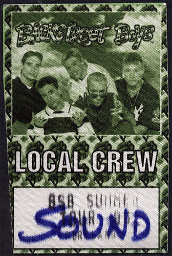 Backstreet Boys 1995 Summer Tour Backstage Pass