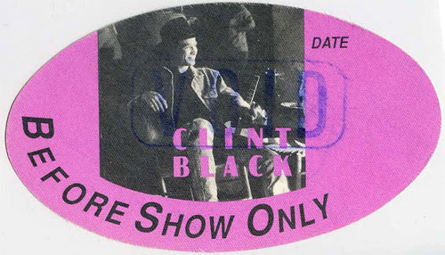 Clint Black Before Show Backstage  Pass