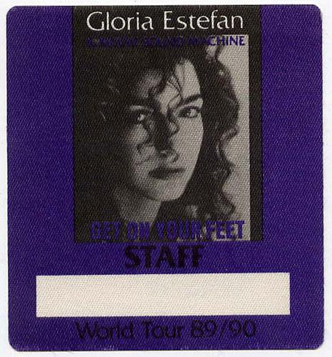 Gloria Estefan 1989 Get On Your Feet Staff Backstage  Pass