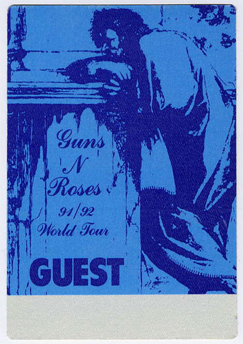 Guns N' Roses 1991 Blue Guest Backstage  Pass
