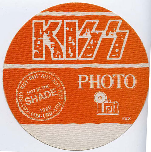 KISS 1990 Hot In The Shade Orange Photo Backstage  Pass