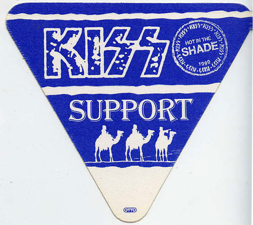 KISS 1990 Hot In The Shade Blue Support Backstage  Pass