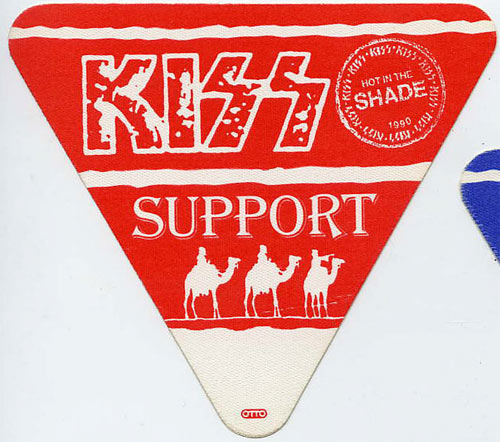 KISS 1990 Hot In The Shade Red Support Backstage  Pass