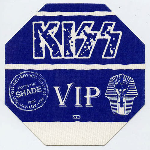 KISS 1990 Hot In The Shade Blue VIP Backstage  Pass