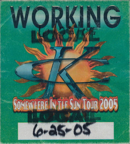 Kenny Chesney 2005 Working Local Backstage Pass