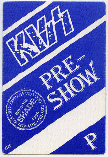KISS 1990 Hot In The Shade Blue Pre-Show Backstage  Pass