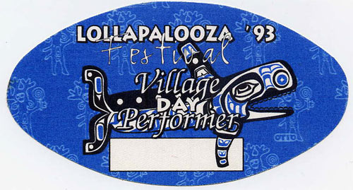 Lollapalooza 1993 Performer Backstage  Pass