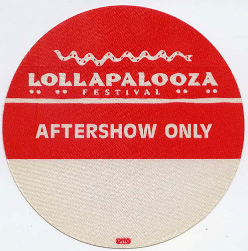 Lollapalooza 1992 Aftershow Backstage  Pass