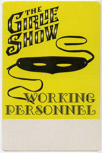 Madonna Girlie Show Personnel Backstage  Pass