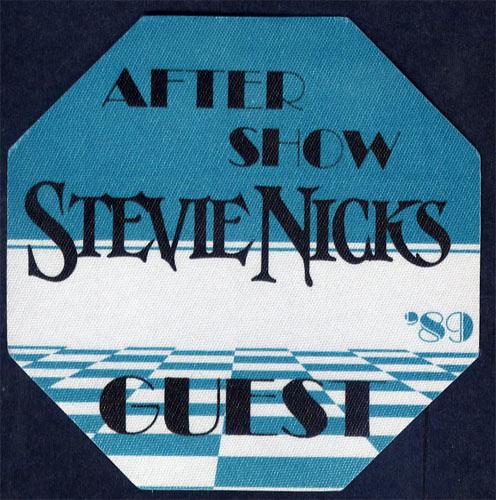 Stevie Nicks 1989 Blue Guest Backstage  Pass