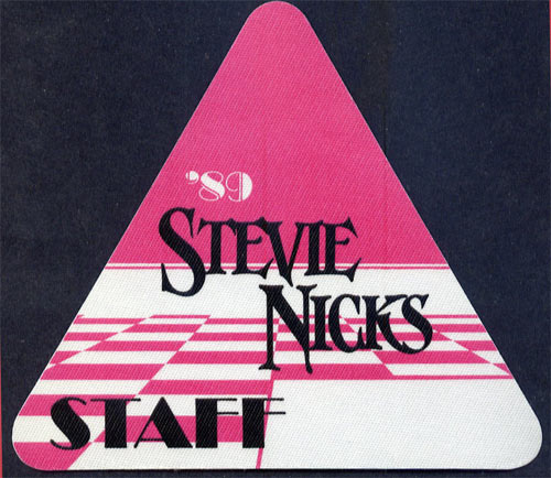 Stevie Nicks 1989 Staff Backstage  Pass