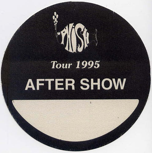 Phish 1995 Black After Show Backstage  Pass