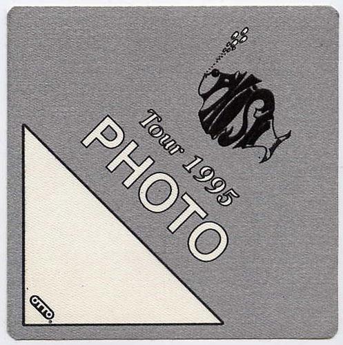 Phish 1995 Grey Photo Backstage  Pass