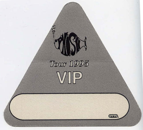 Phish 1995 Grey VIP Backstage  Pass