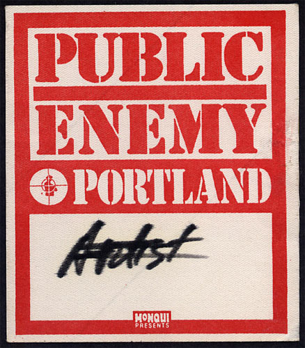 Public Enemy Backstage Pass
