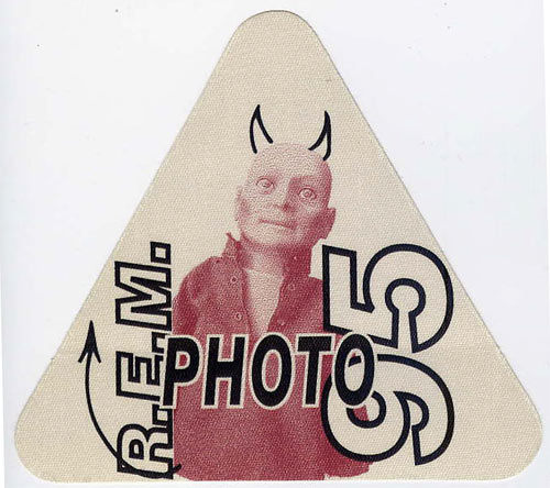 R.E.M 1995 Red Photo Backstage  Pass