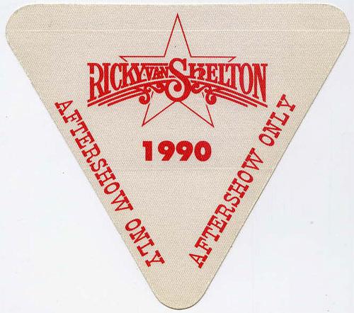 Ricky Van Shelton 1990 Aftershow Backstage  Pass