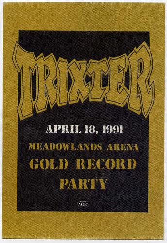 Trixter 1991 Party Backstage  Pass