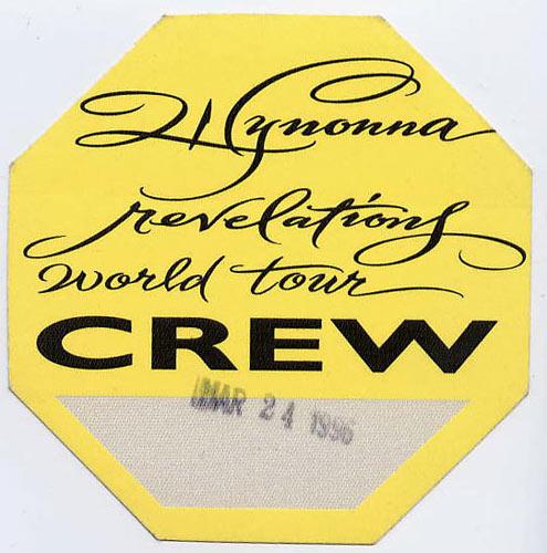 Wynonna 1996 Revelations Crew Backstage  Pass