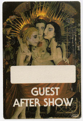 Jane's Addiction After Show Backstage  Pass