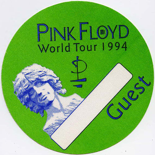 Pink Floyd 1994 Guest Backstage  Pass