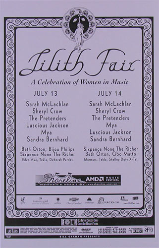 Lilith Fair Phone Pole Poster