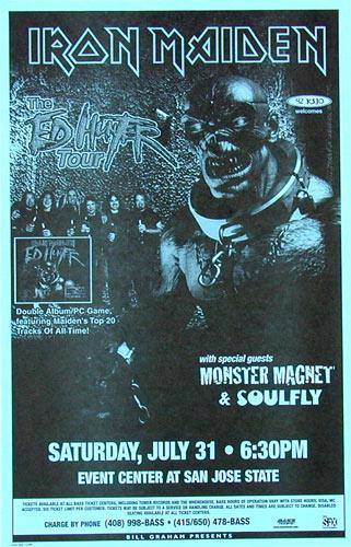 Iron Maiden - Ed Hunter Tour Phone Pole Poster