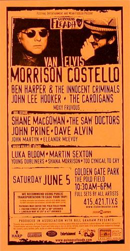 Van Morrison and Elvis Costello Phone Pole Poster