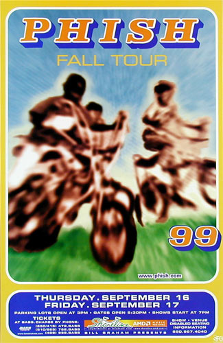 Phish - 1999 Fall Tour Phone Pole Poster