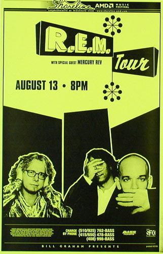 R.E.M. Phone Pole Poster