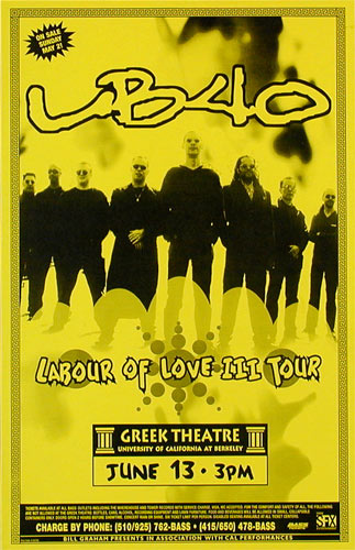 UB40 Phone Pole Poster