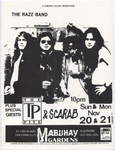 The Razz Band Punk Flyer / Handbill