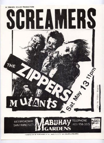 Screamers Punk Flyer / Handbill