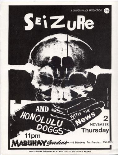 Roger/Reyes Seizure Punk Flyer / Handbill
