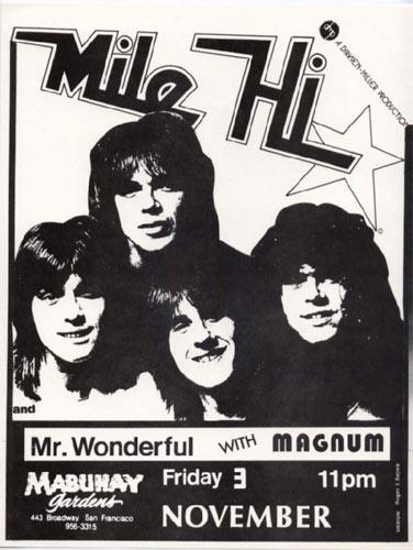 Mile Hi Punk Flyer / Handbill