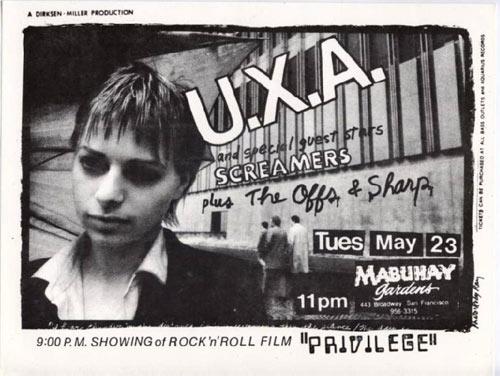 Ruby Ray U.X.A. Punk Flyer / Handbill