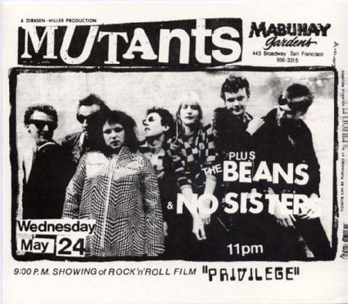 Mutants Punk Flyer / Handbill