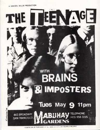 Evenson The Teenage Punk Flyer / Handbill