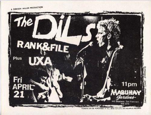 Everson The Dils Punk Flyer / Handbill